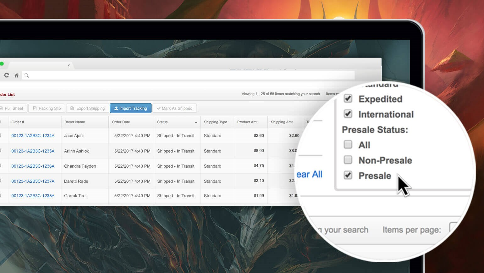 New Search Option: Filter Your Presale Orders