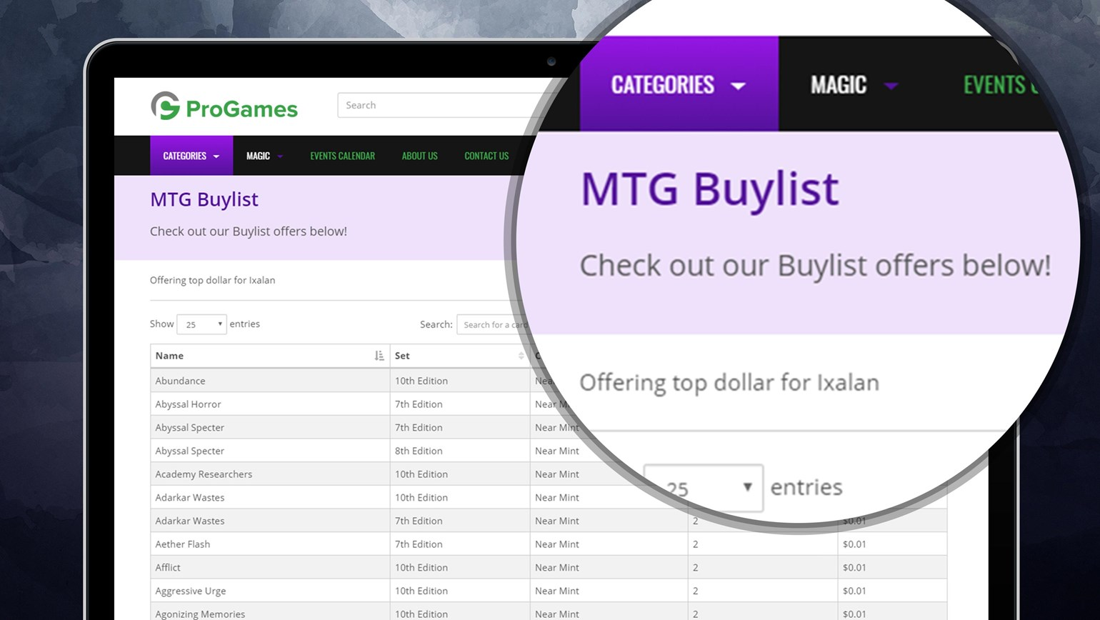 Buylist Added to TCGplayer Pro Online Stores