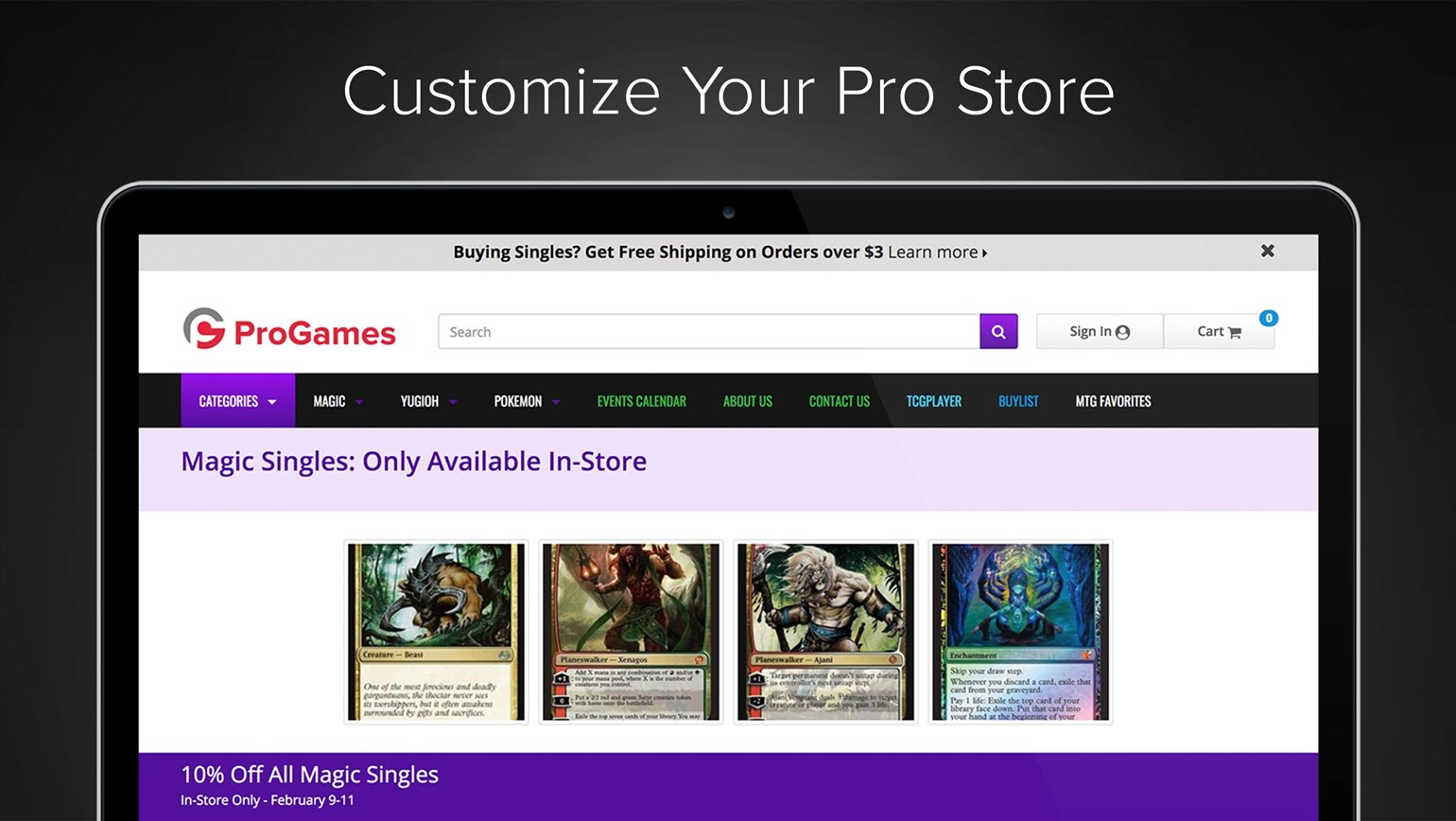 Customize Your Pro Online Store with Your Own Images