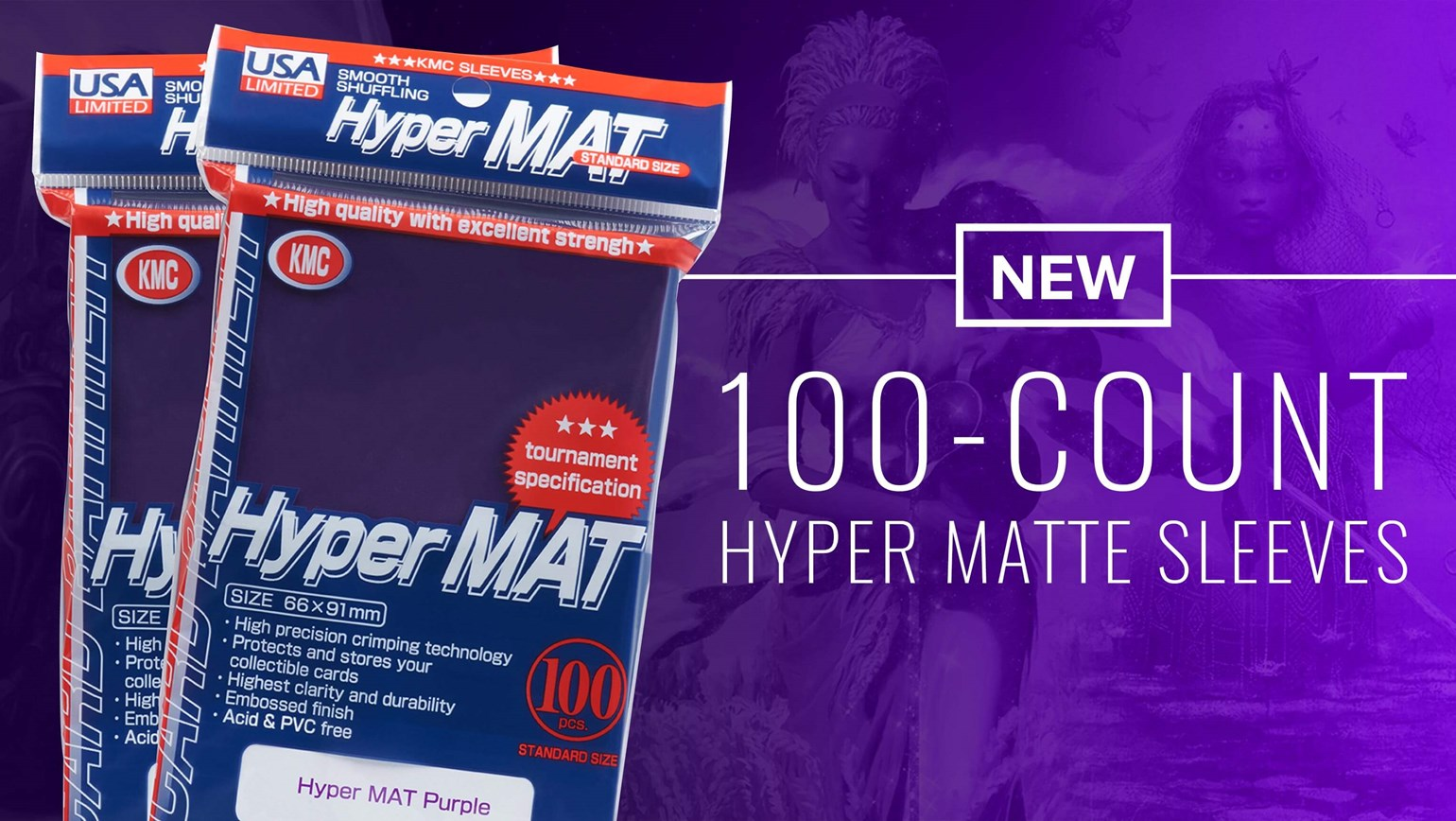KMC USA 100-Count Hyper Matte Sleeves for MTG Commander Decks Now Available on TCGplayer