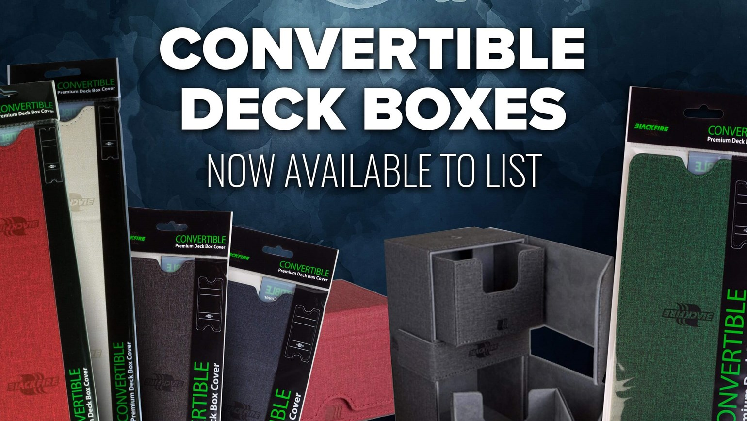 Convertible Deck Boxes from Legion Premium Supplies Added to TCGplayer Catalog