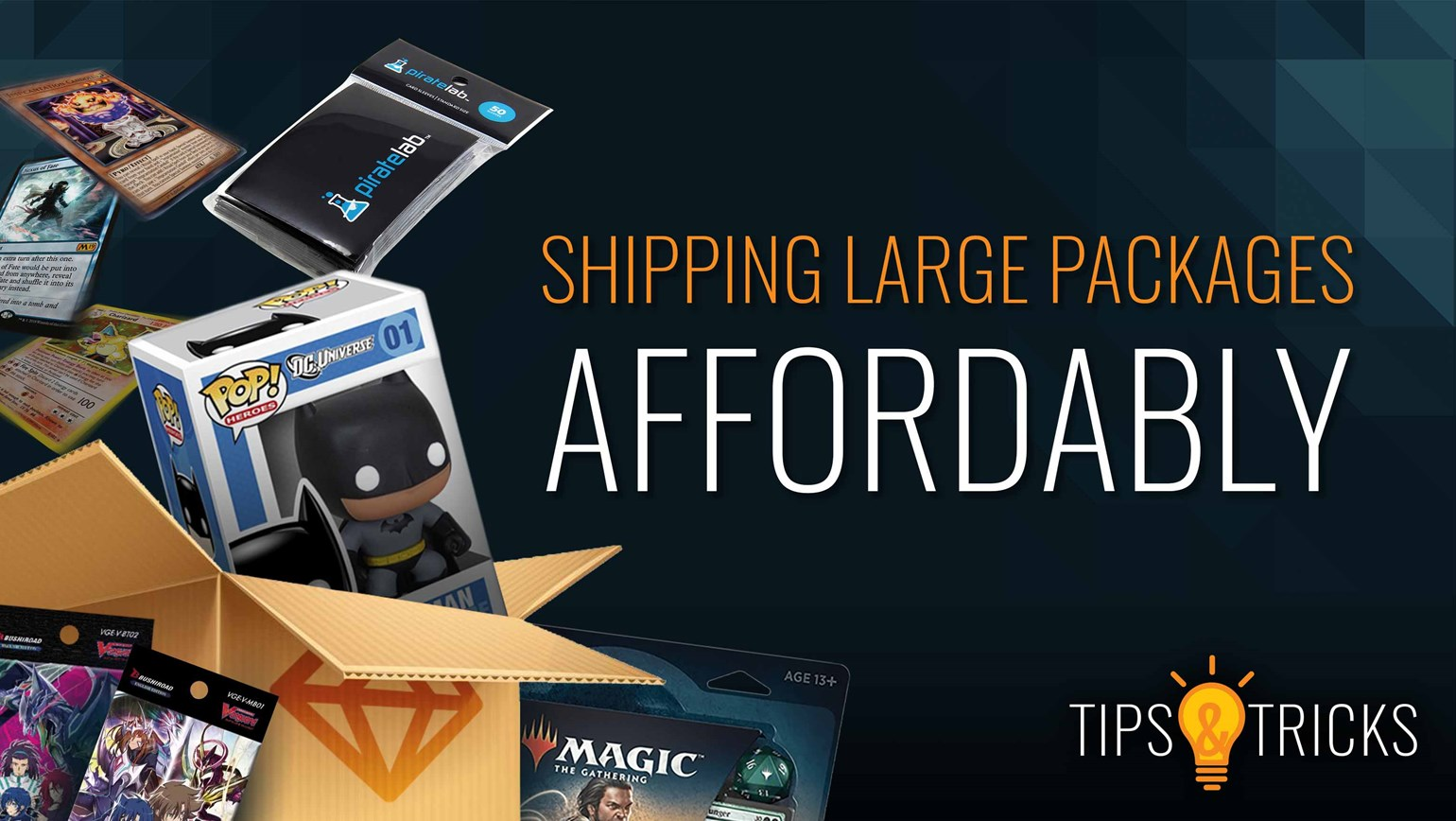 Shipping Bulk Lots, Booster Boxes and Other Large Packages Affordably