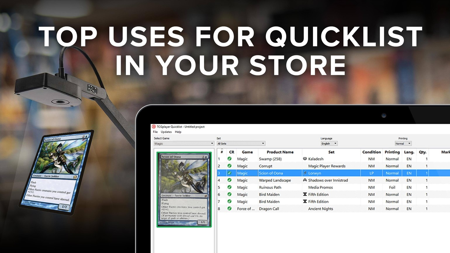 Top Uses for Quicklist Card Scanning Software in Your Game Store