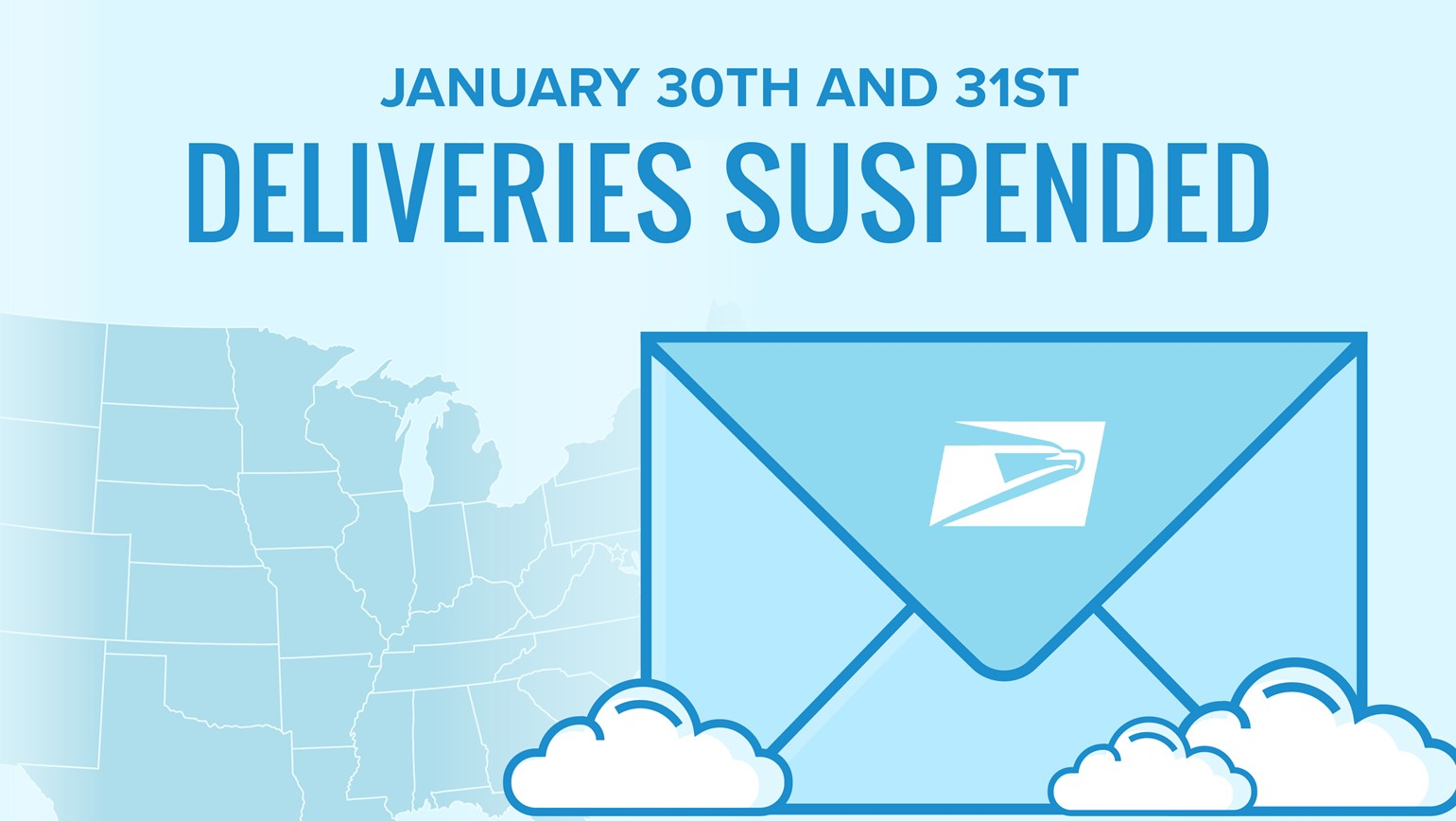 USPS Suspending Deliveries to Parts of the Midwest (1/30-1/31) - How to Handle Impacted Orders