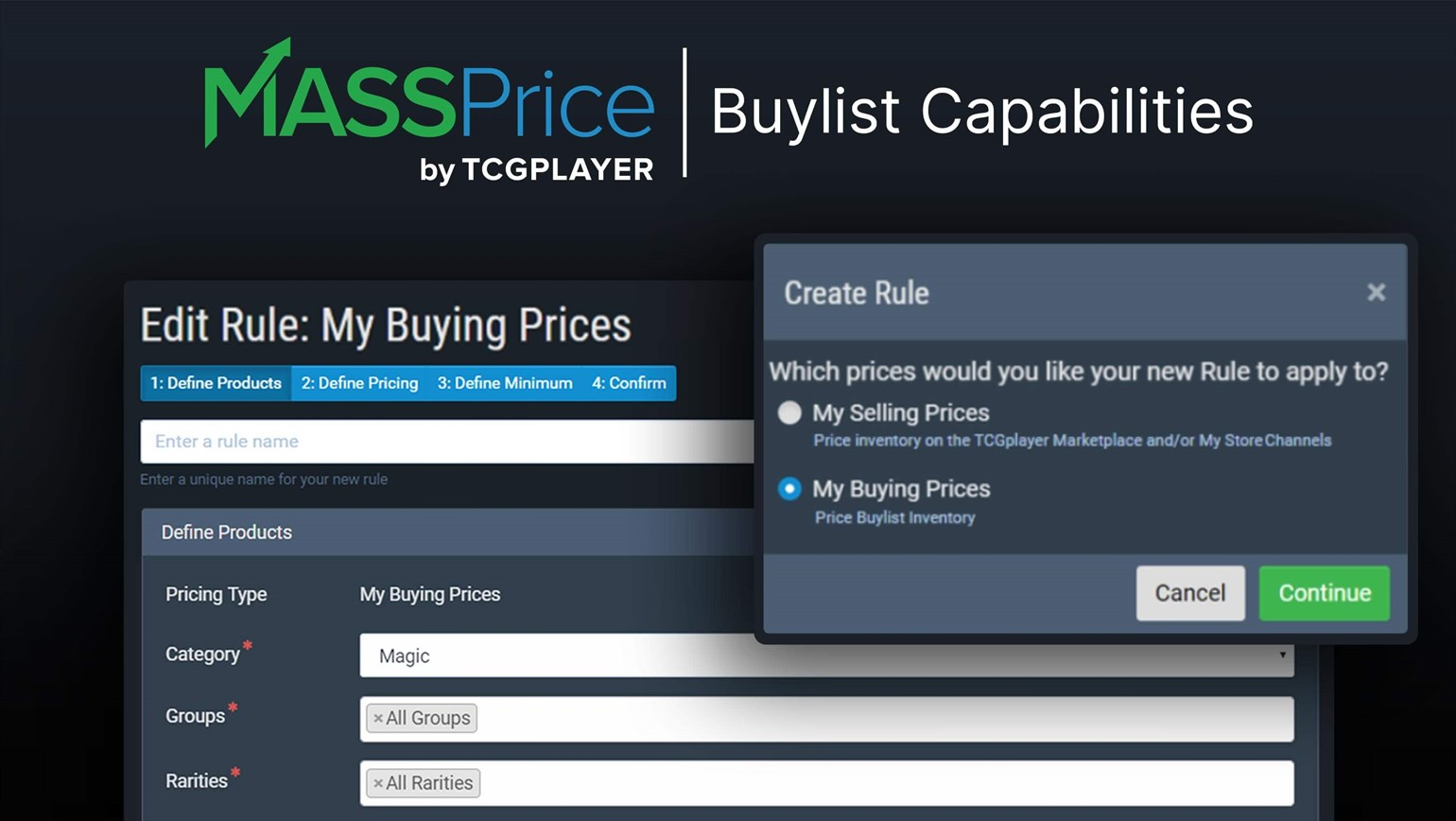 New Feature: Update Buylist Prices with MassPrice