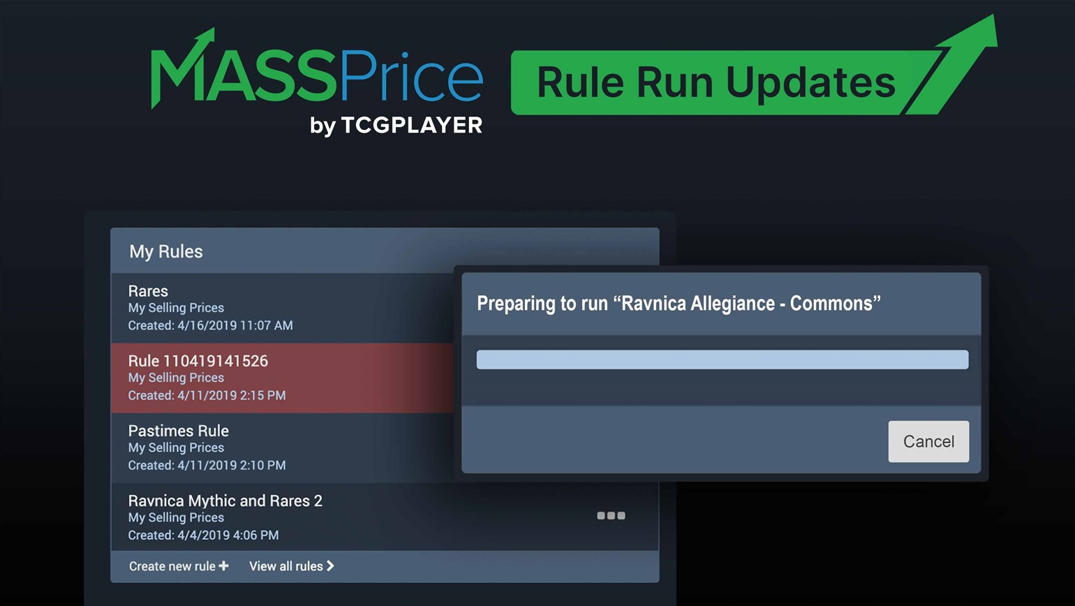 New MassPrice Updates Offer Greater Control While Running Rules
