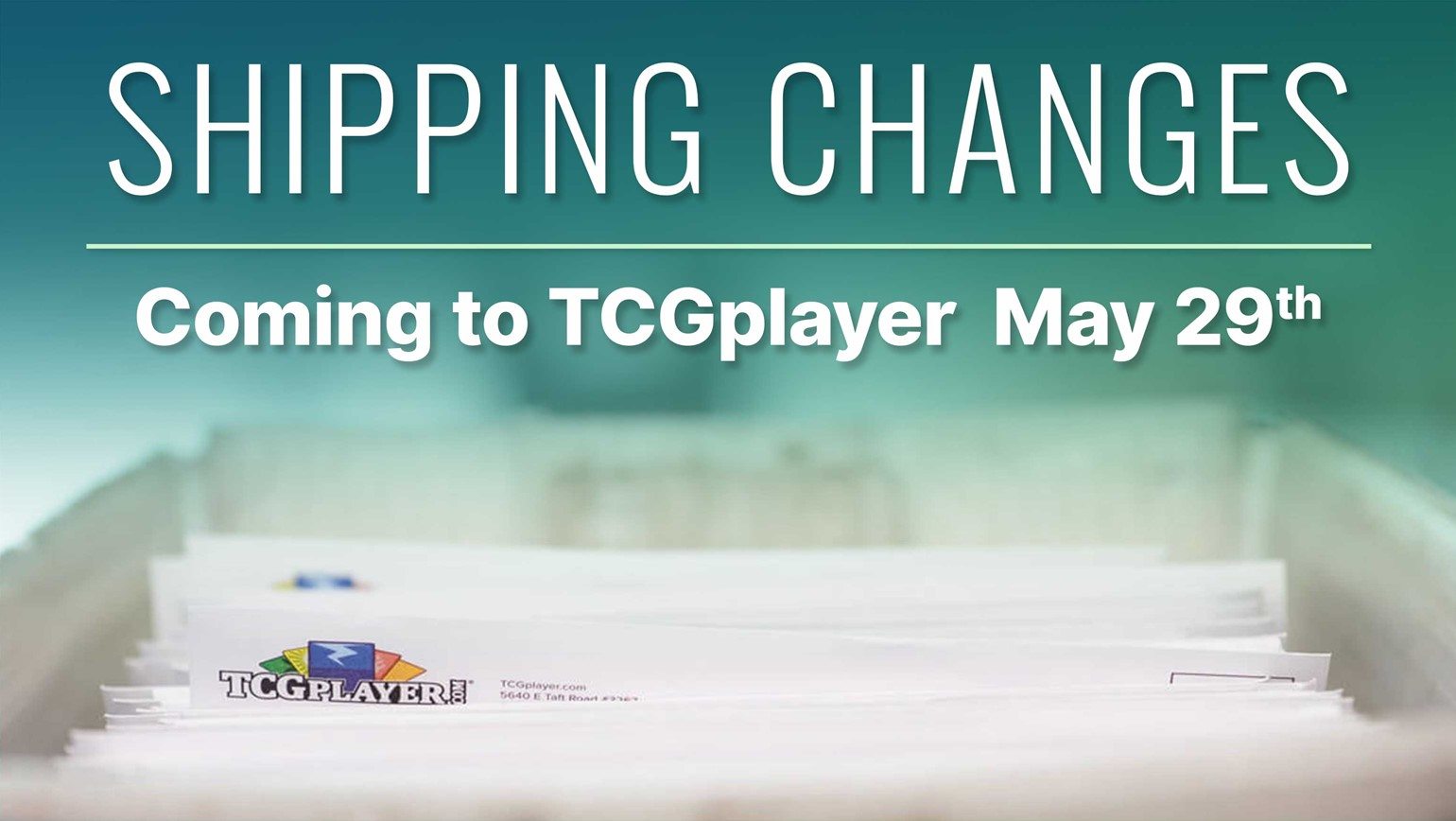 Shipping Changes Coming to TCGplayer May 29th