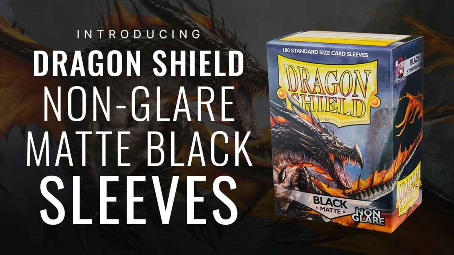 Dragon Shield Non-Glare Matte Black 'Amina' Sleeves Added to TCGplayer Catalog
