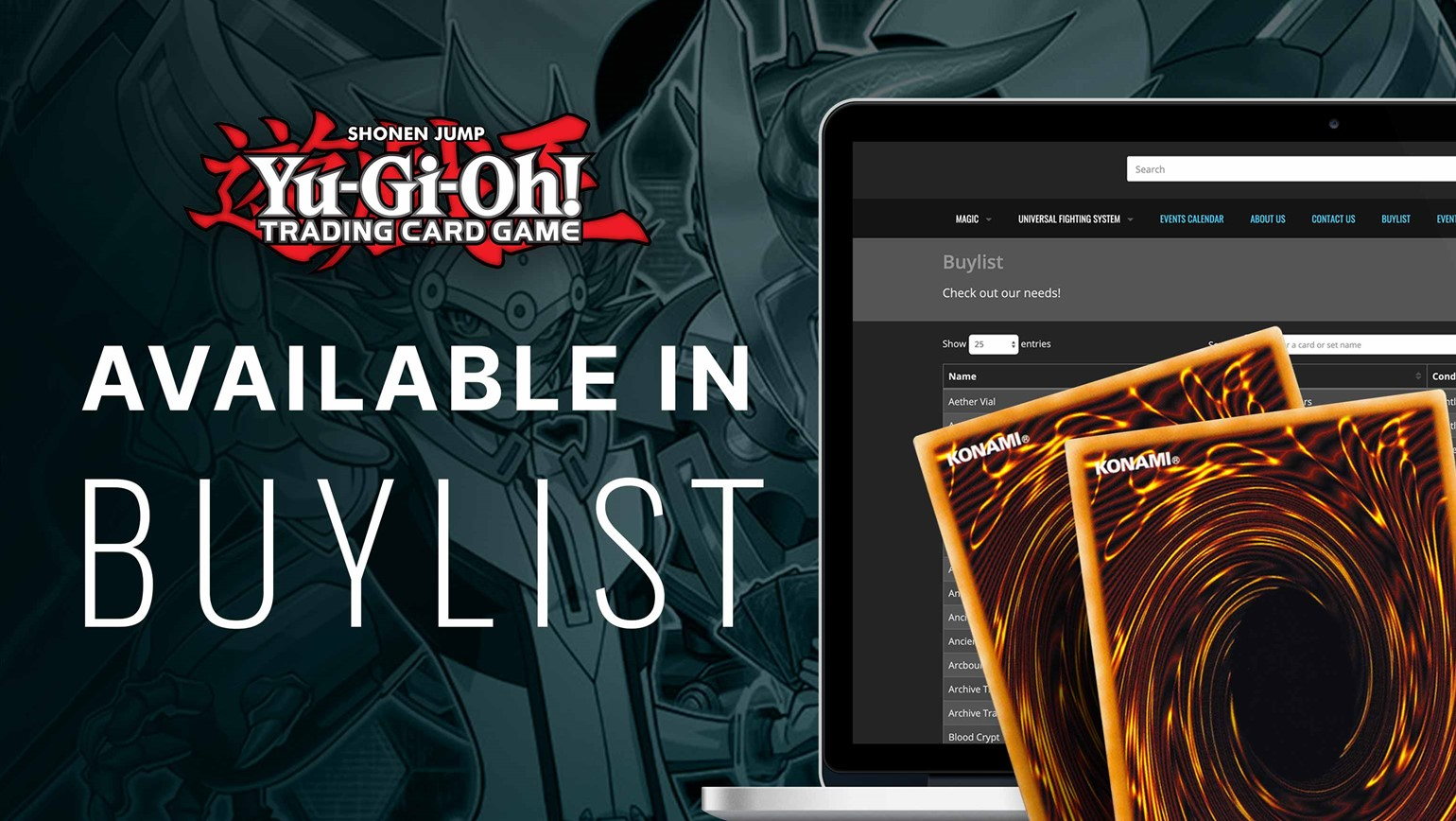 Yu-Gi-Oh! Now Live in Pro Buylist on Your Showcase and Website