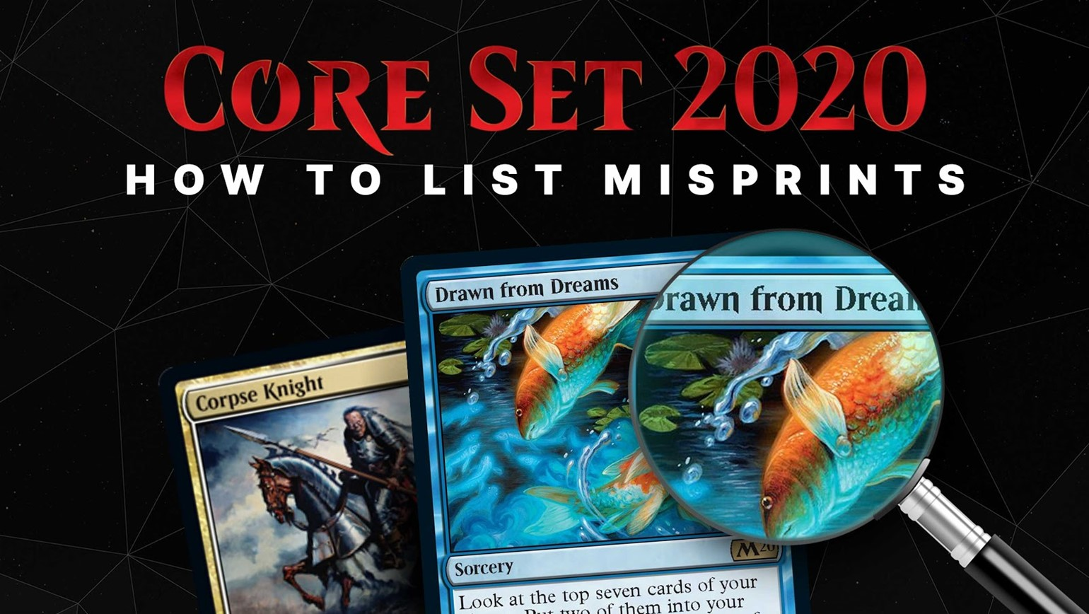 How to List Misprints from Core Set 2020
