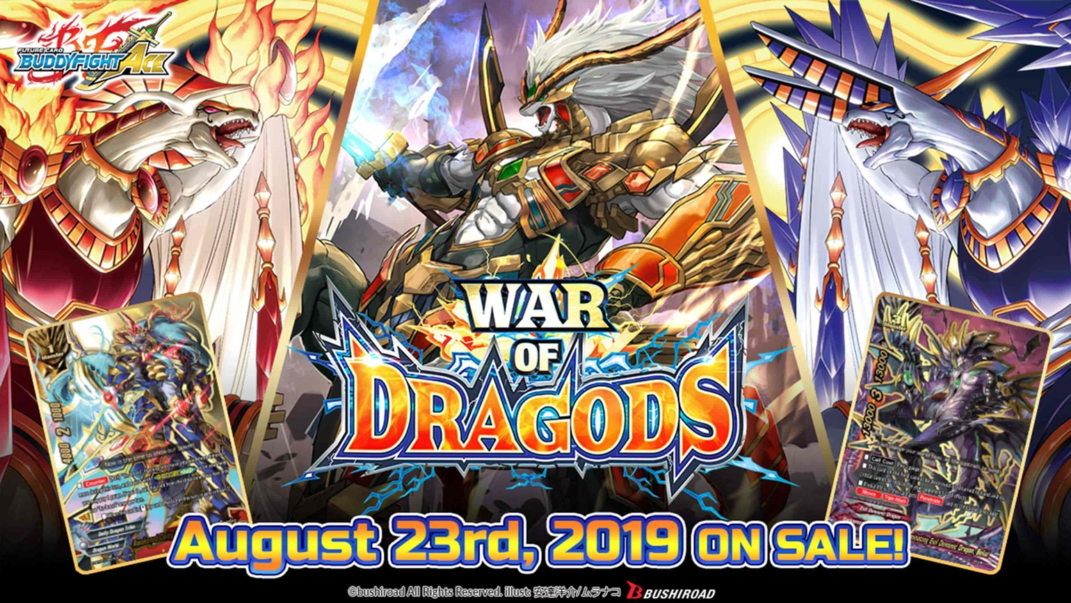 Future Card Buddyfight: Legend of Double Horus and War of Dragods Coming August 23rd