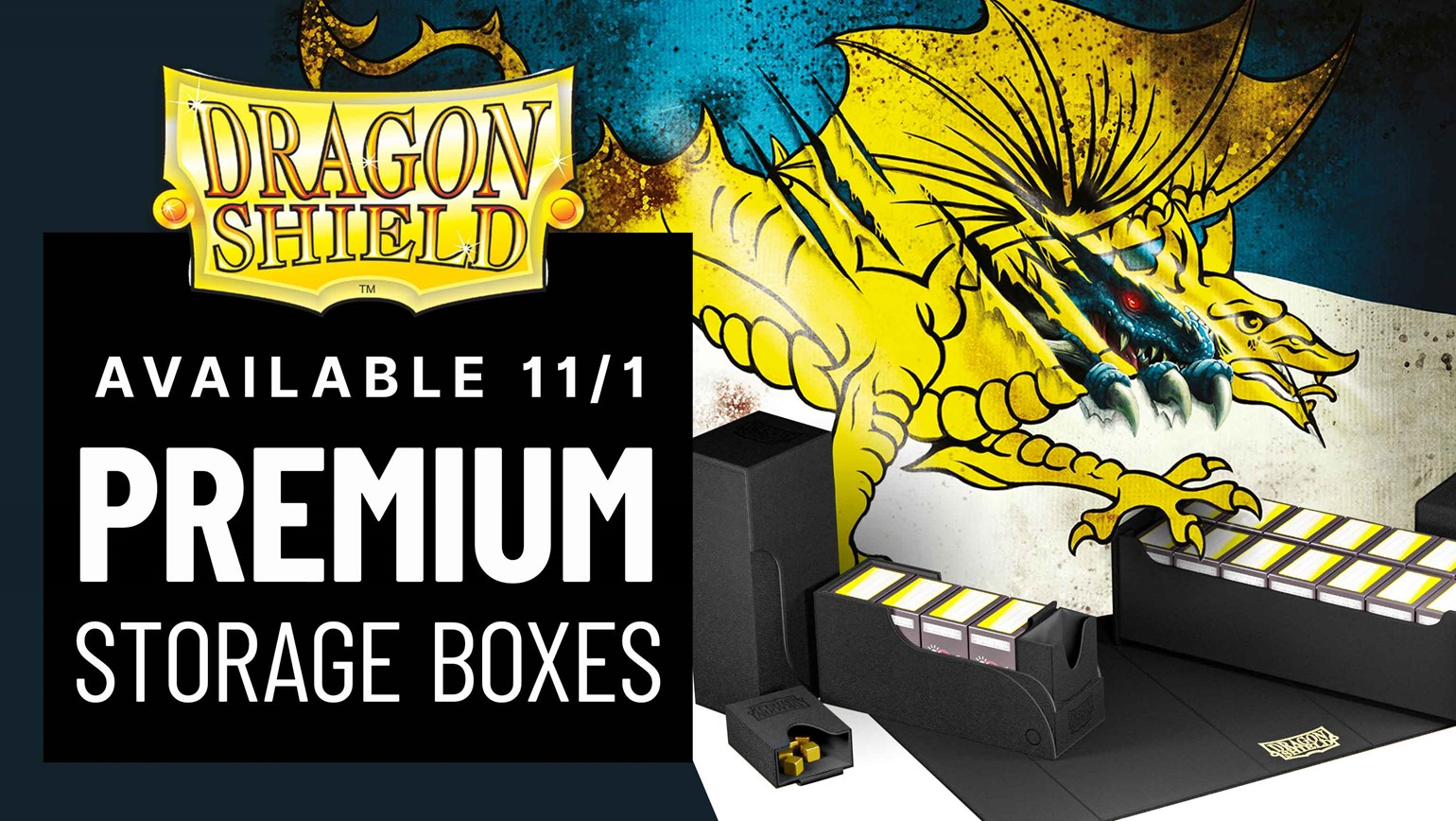 New Premium Storage Boxes from Dragon Shield Arrive Friday, 11/1