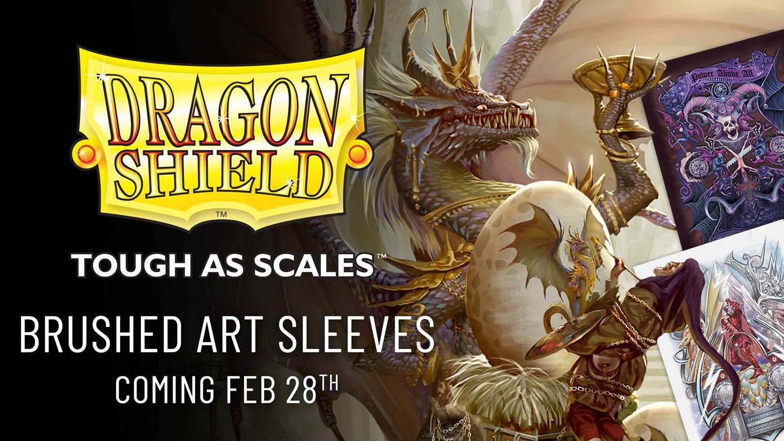 Brushed: A New Type of Sleeve from Dragon Shield Arrives February 28th