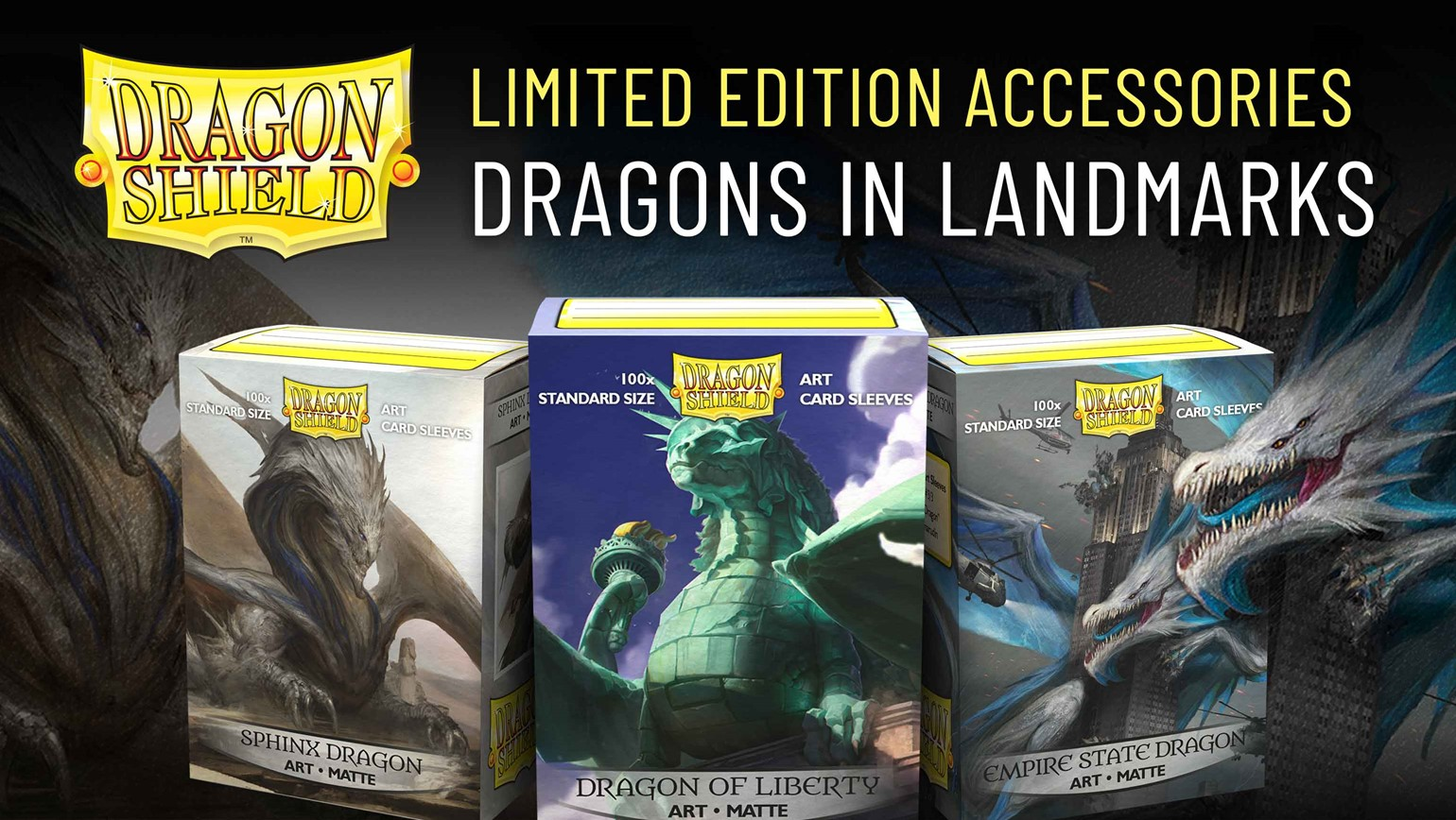 Dragons in Landmarks Card Sleeves by Dragon Shield Coming March 27th