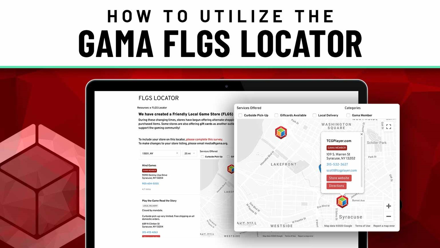 How to Utilize the GAMA FLGS Locator