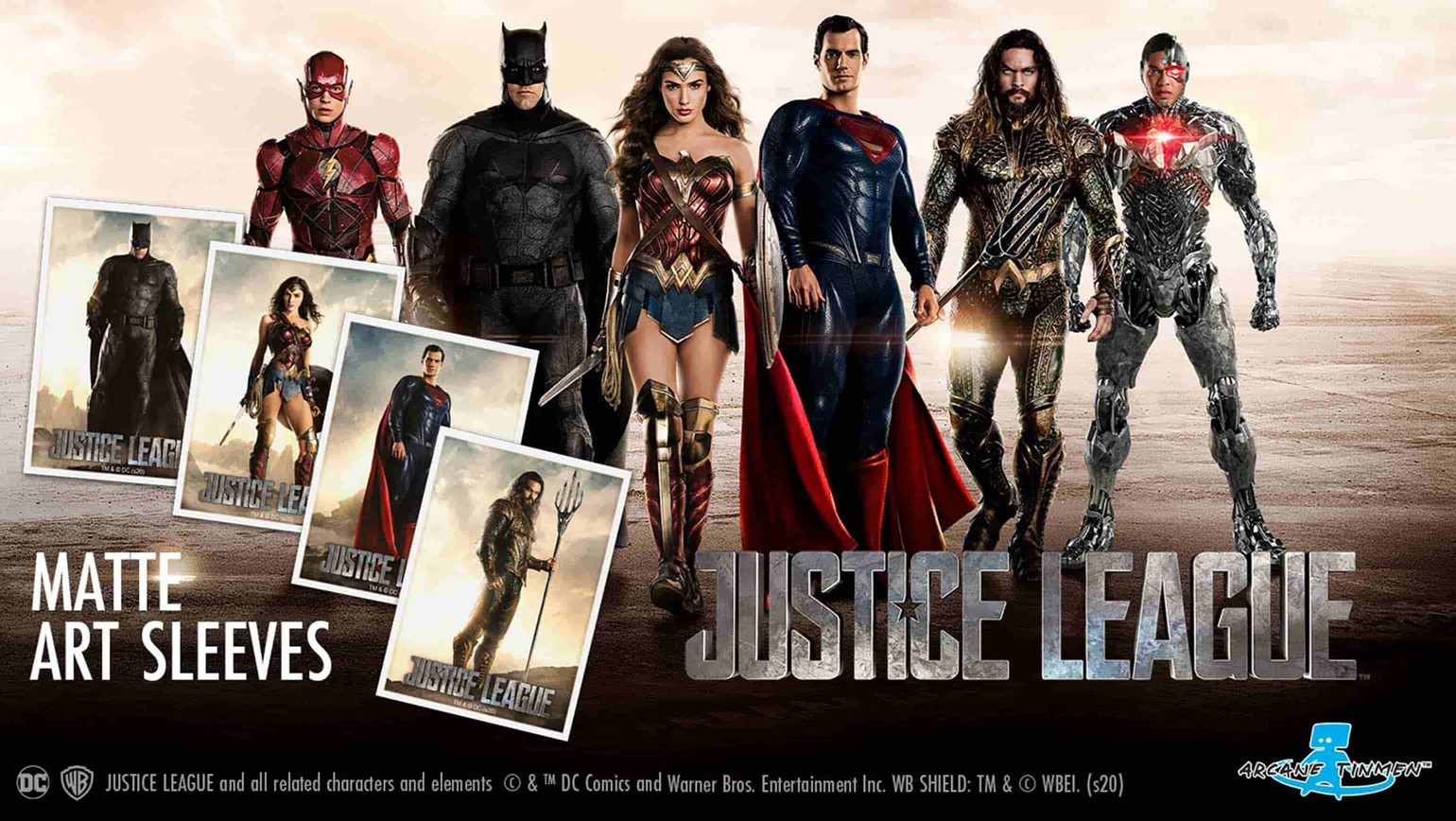 justice league card sleeves from dragon shield arrive may 22nd