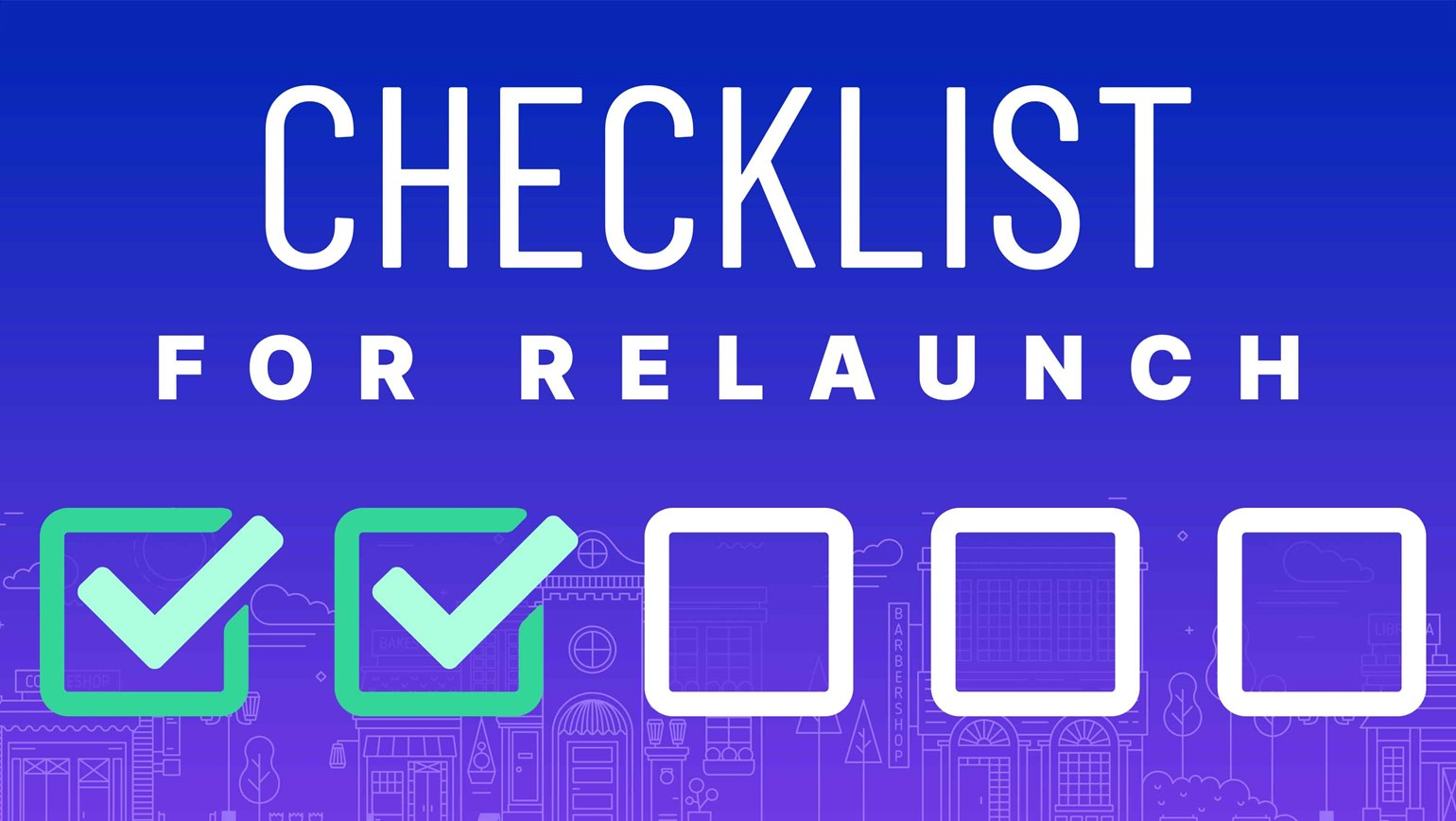 Checklist for Relaunch