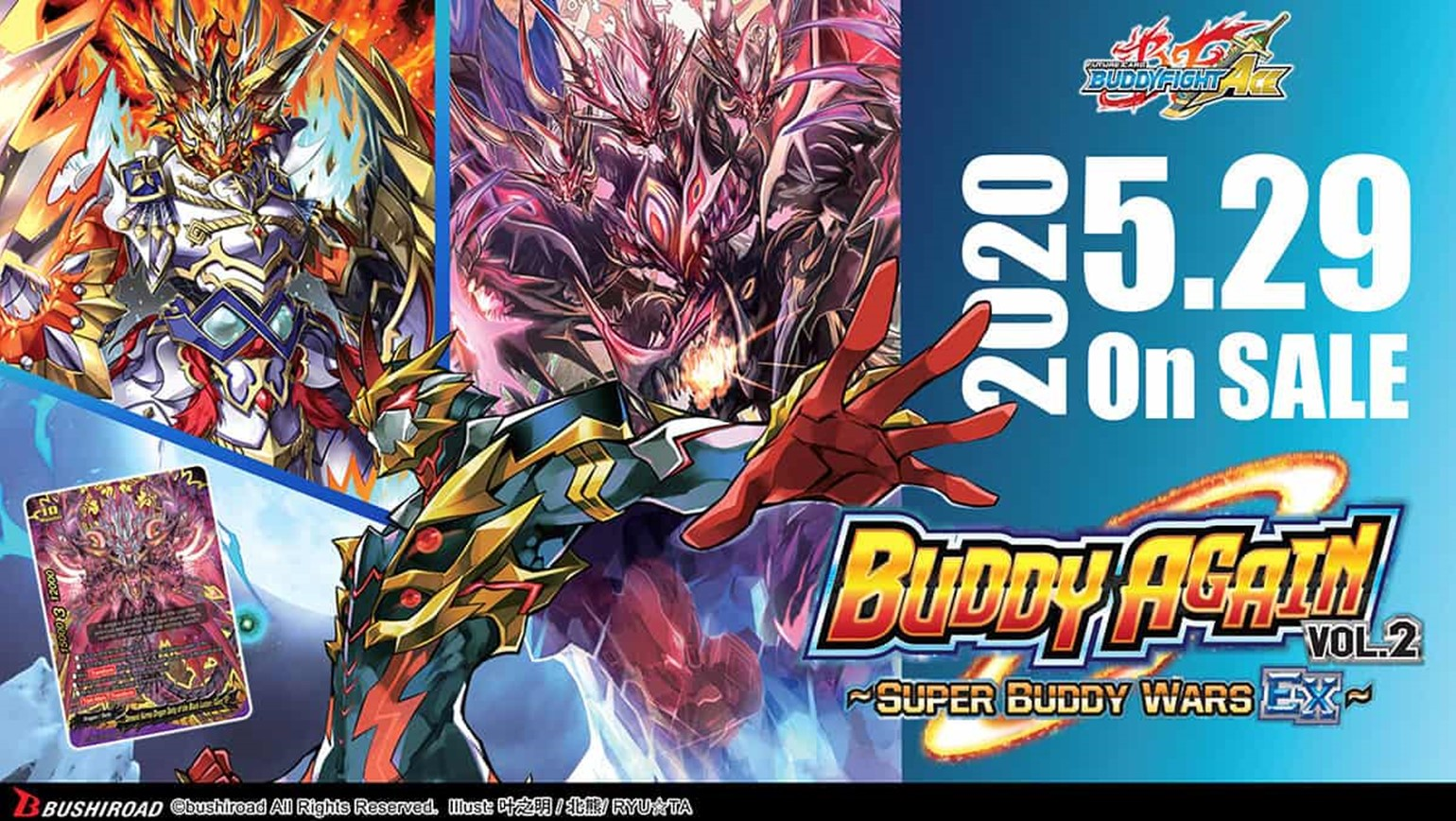 Future Card Buddyfight Ace Ultimate Booster Vol. 5 Buddy Again Vol. 2 ~Super Buddy Wars EX~ Coming May 29th