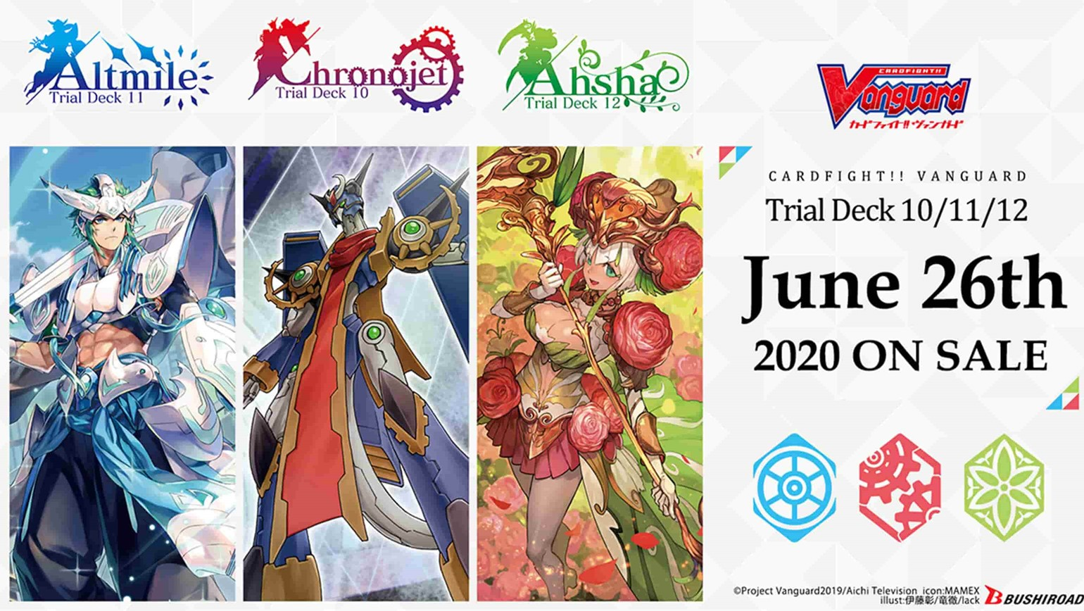 Three New English Edition Cardfight!! Vanguard Trial Decks Coming to Stores on June 26th