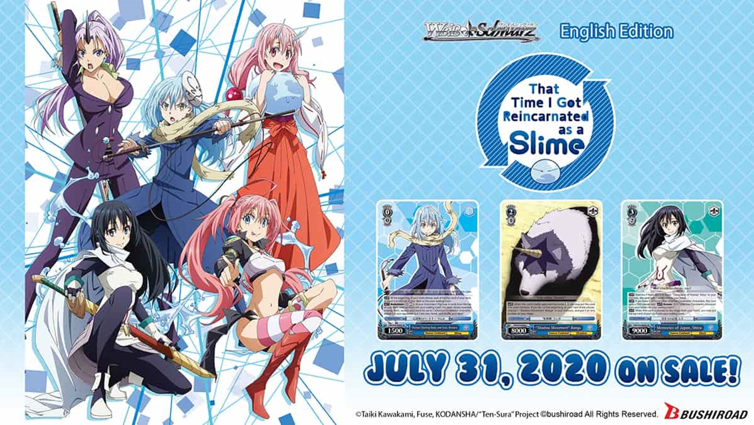 Weiss Schwarz: That Time I Got Reincarnated as a Slime Coming July 31st