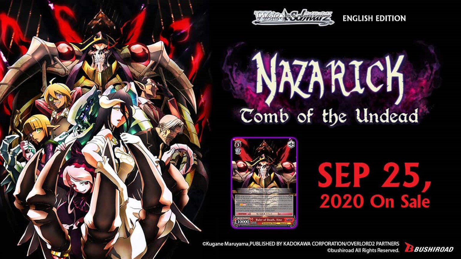 Weiss Schwarz: Nazarick: Tomb of the Undead Out on September 25th!