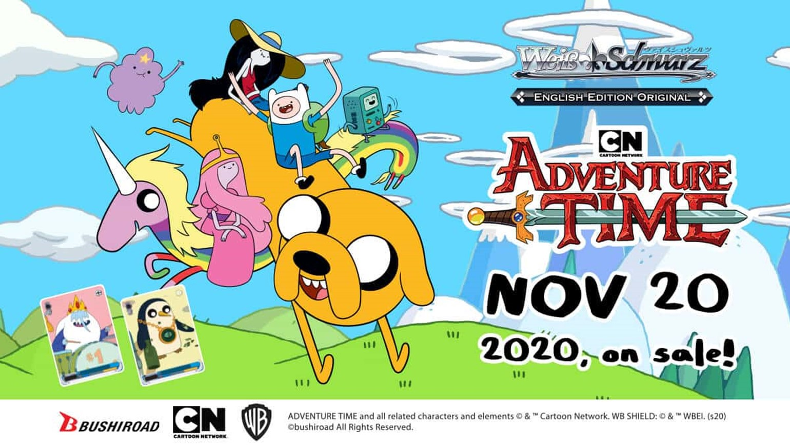 Weiss Schwarz: English Original Title Adventure Time Goes on Sale November 20th!