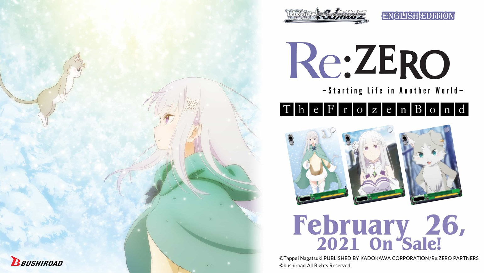 Weiss Schwarz: Re:ZERO -Starting Life in Another World- The Frozen Bond On Sale February 26th!