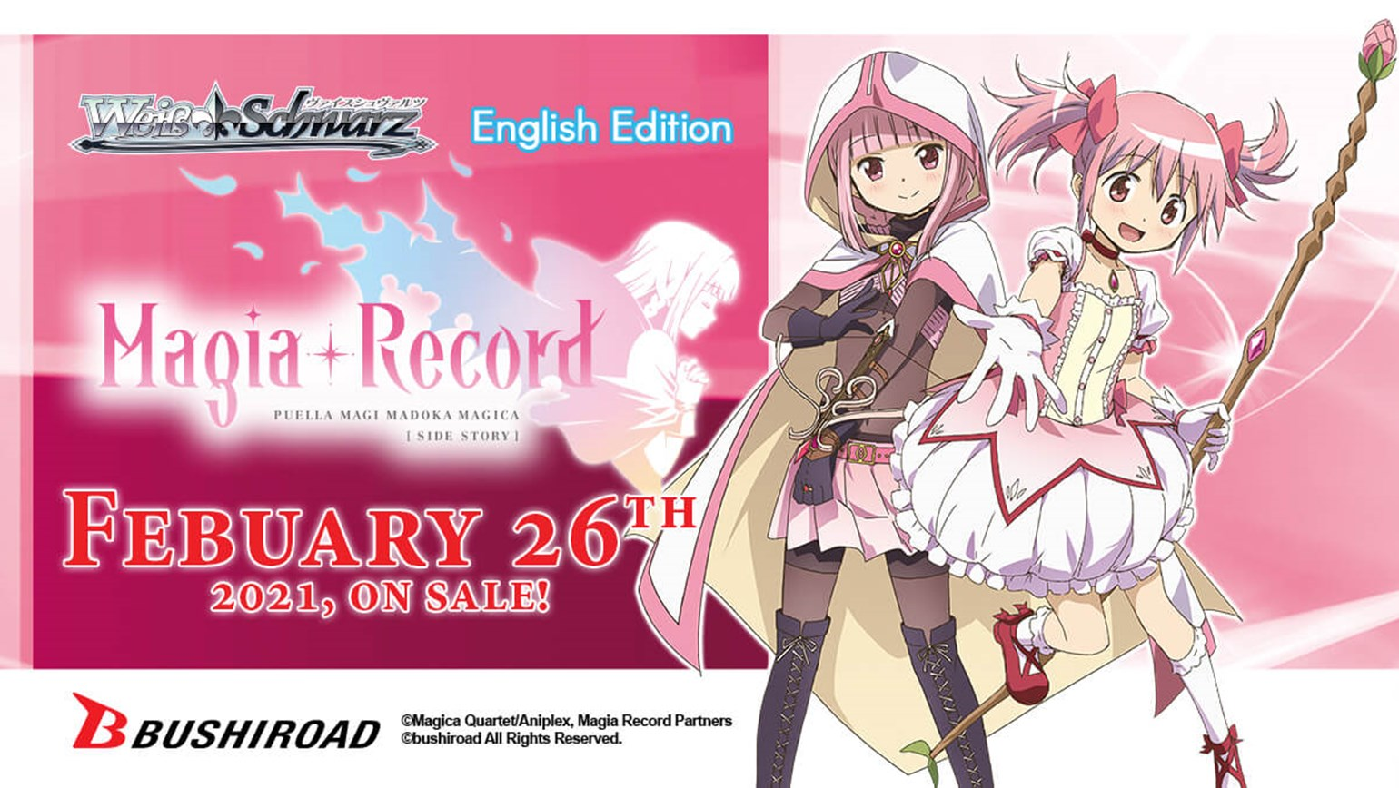 Weiss Schwarz: Magia Record: Puella Magi Madoka Magica Side Story On Sale February 26th!